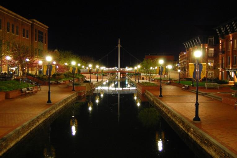 Carroll Creek at Night