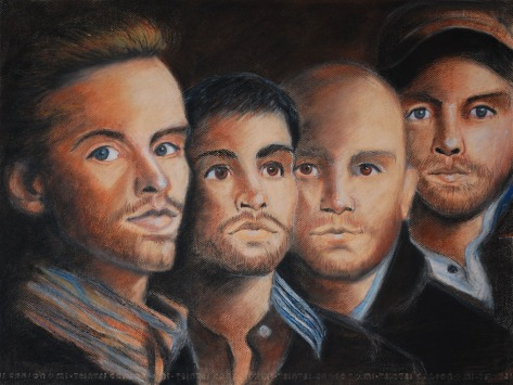 Coldplay, Pastel on paper, 2018, Jodie Schmidt.