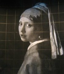 Vermeer copy with grid