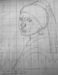 Vermeer paper copy with grid