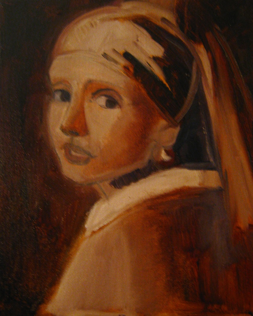 Girl with a Pearl Earring, After Vermeer, re-do