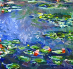 Monet copy waterlillies