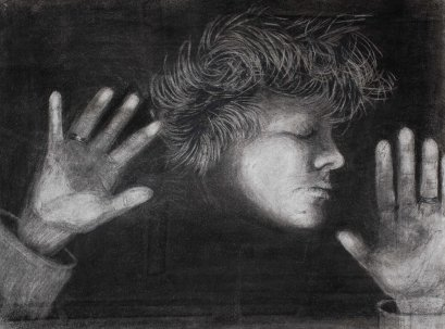 Self-Portrait in Charcoal