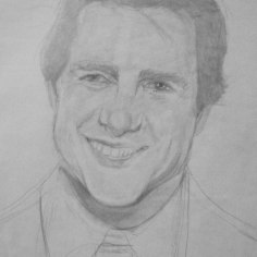 Tom Cruise portrait in progress