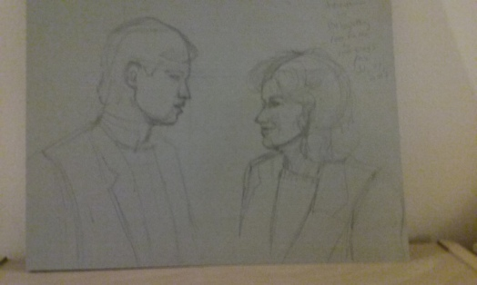 George Newbern and Elizabeth Shue as Dan and Chris