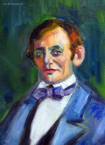 Abraham Lincoln portrait (with green)