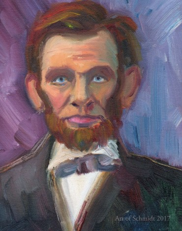 Abraham Lincoln portrait (with purple)