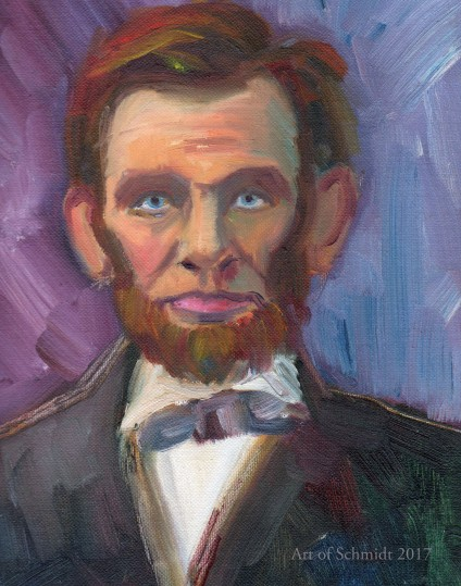 Abraham Lincoln portrait (with purple)