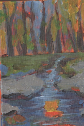 This is a painting of Catoctin State Park in Thurmont, MD.