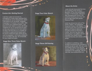 Here are some photos of my three step process in creating custom pet portraits.