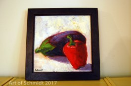Eggplant and Red Pepper