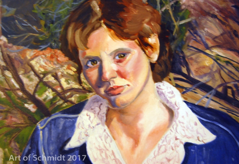 Self-Portrait with Scenery, Oil on Canvas, 2004.
