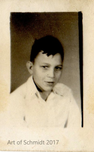 School photo of my father as a child provided the inspiration for my painting of Dad as Young Boy.