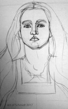 Master Copy, Portrait of Sophie Gray, Jodie Schmidt, 2017, After Millais.