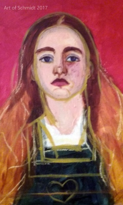 Master Copy, Portrait of Sophie Gray, Jodie Schmidt, 2017, After Millais.