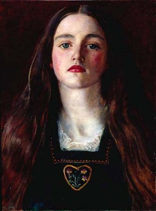 Portrait of Sophie Gray, Millais, 1857.