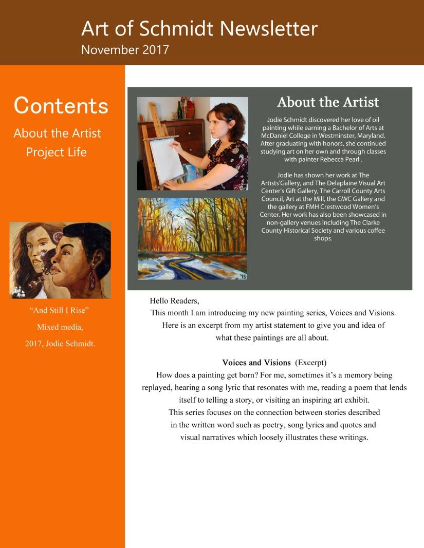 Art of Schmidt Newsletter, November 2017, edited