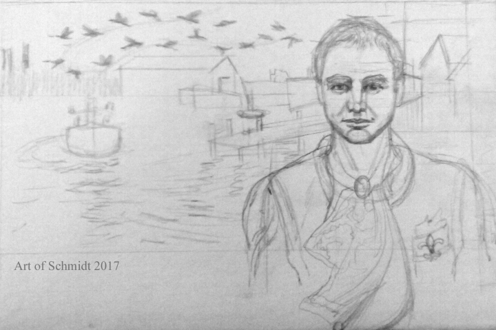 Sting, pencil sketch