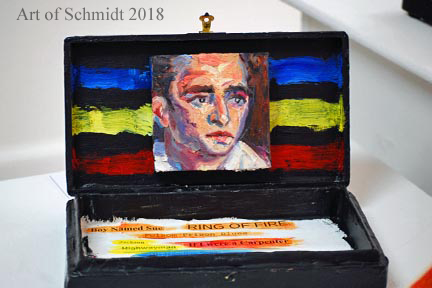 Johnny Cash, Mixed Media, 2014, Jodie Schmidt.