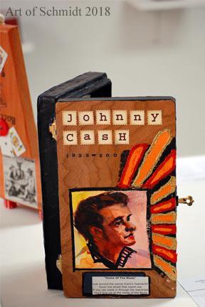 Johnny Cash, Mixed Media, 2014, Jodie Schmidt.