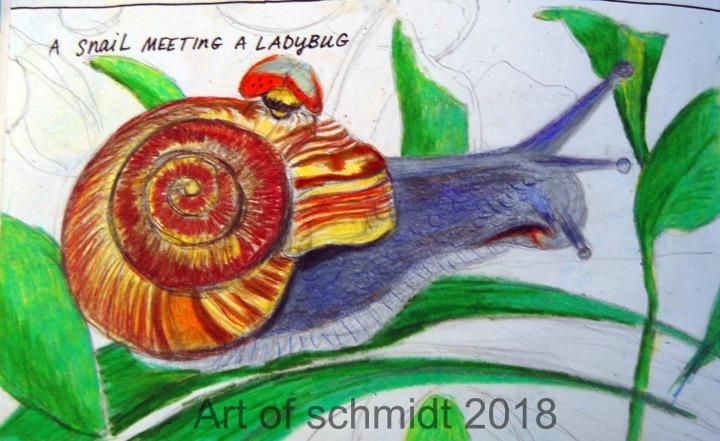 Snail and Ladybug, flat