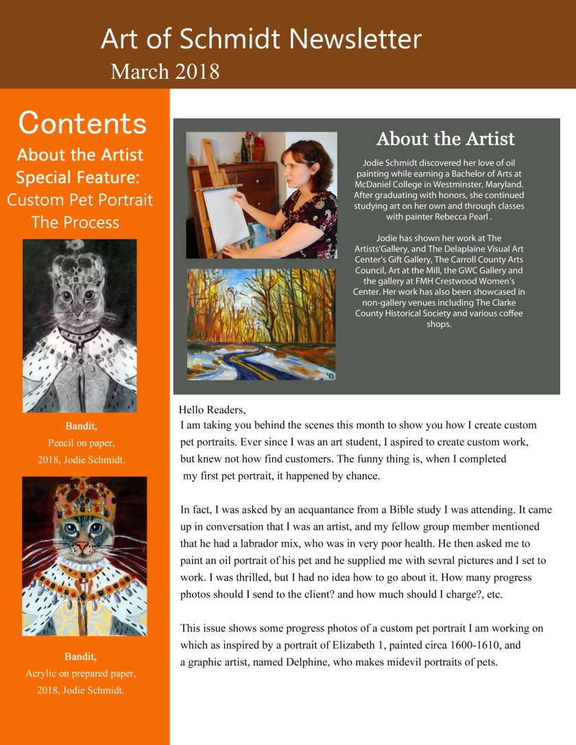 Art of Schmidt Newsletter, March 2018, page 1, final, final, flat