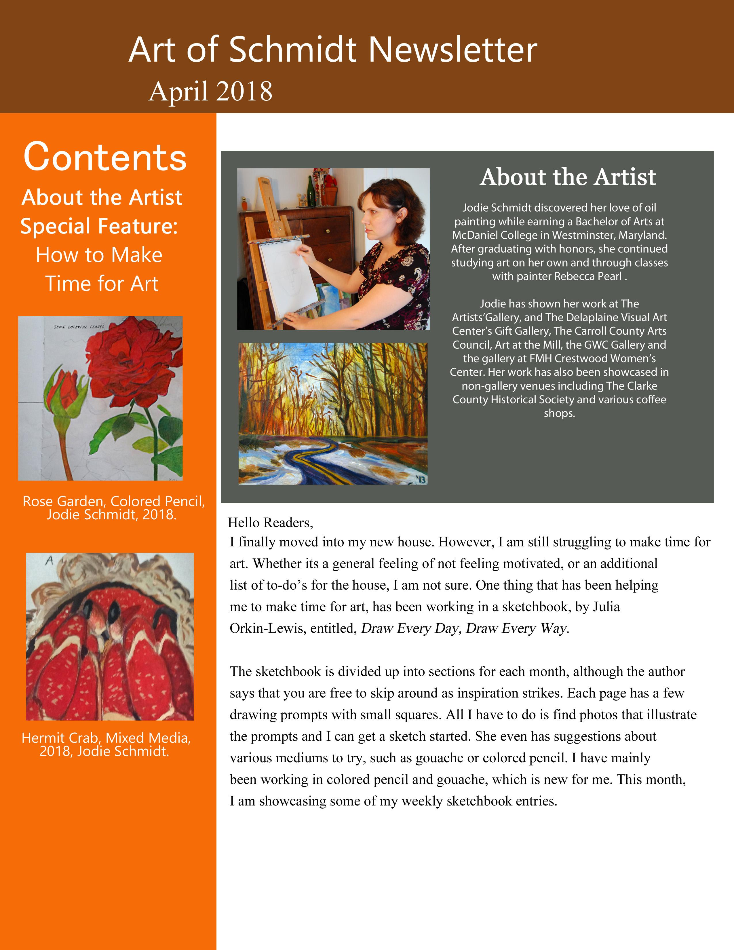 Art of Schmidt Newsletter, May, final