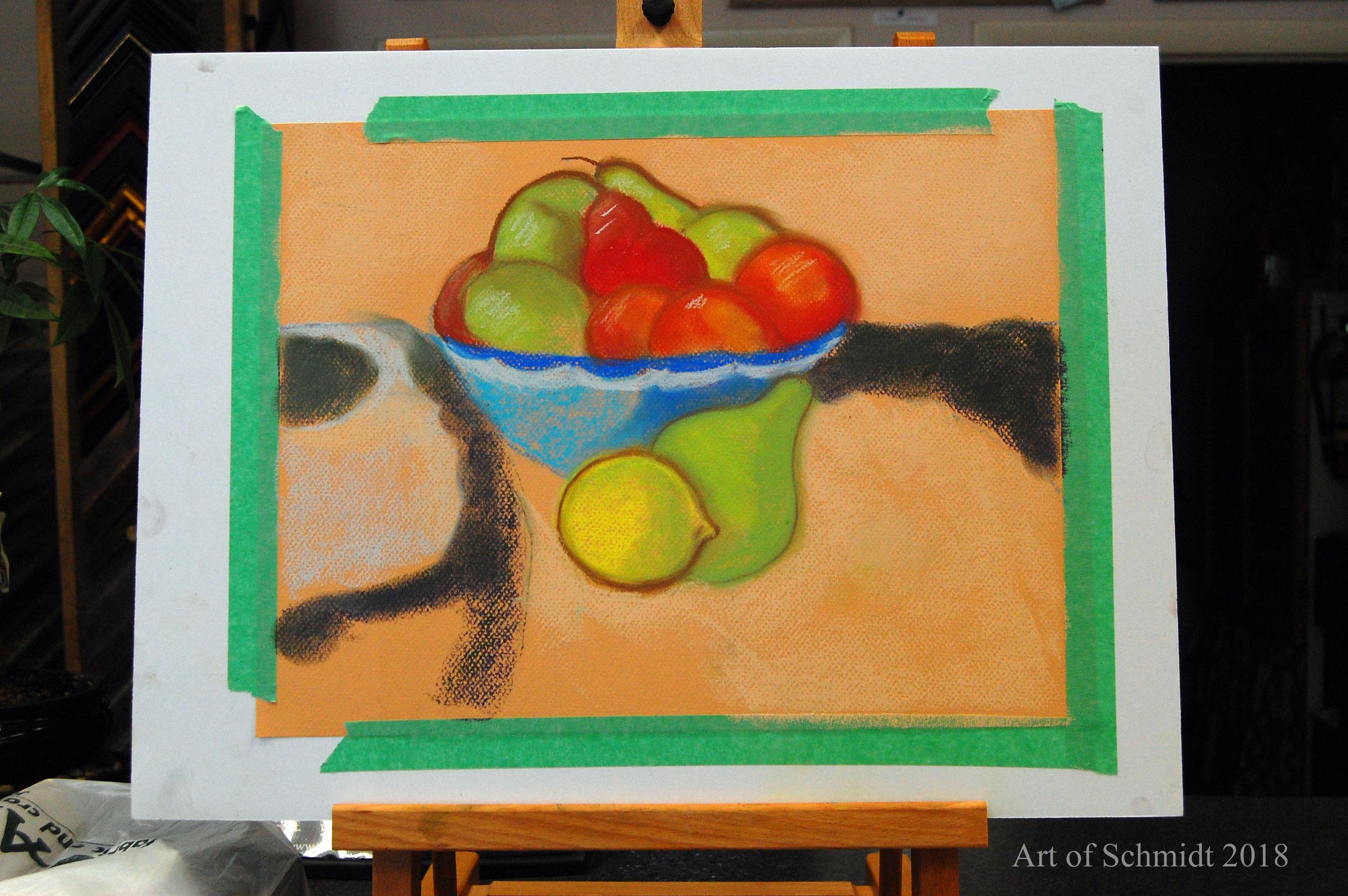 Jean's fruit still life, flat