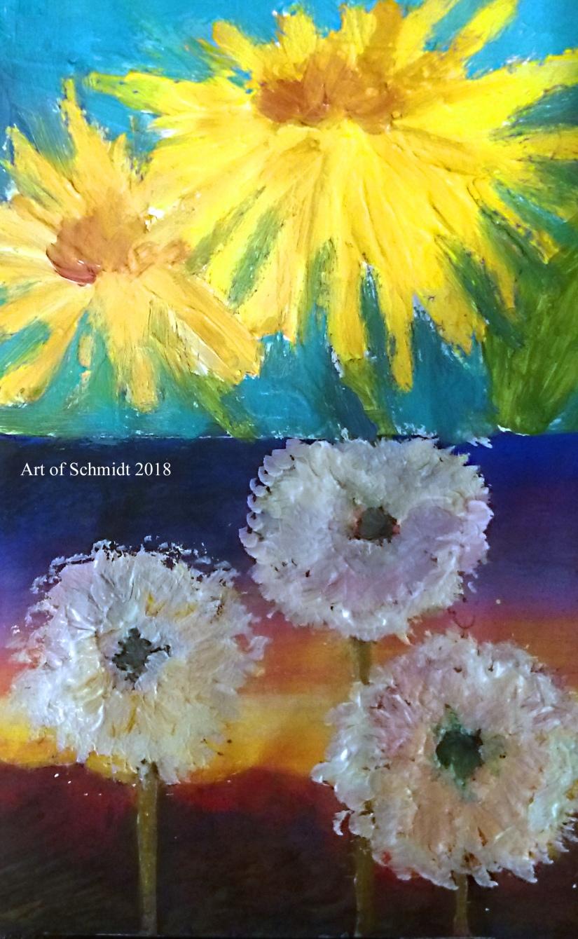 dandelions sketchbook flat