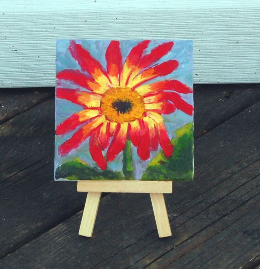 small gerbera painting