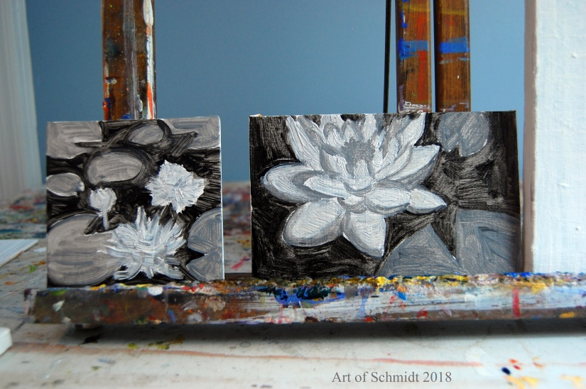 small value paintings, flat