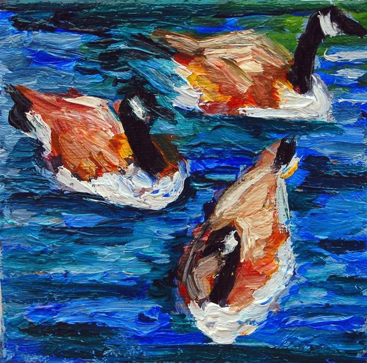 Canada Goose trio,flat