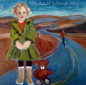 portrait painting in landscape