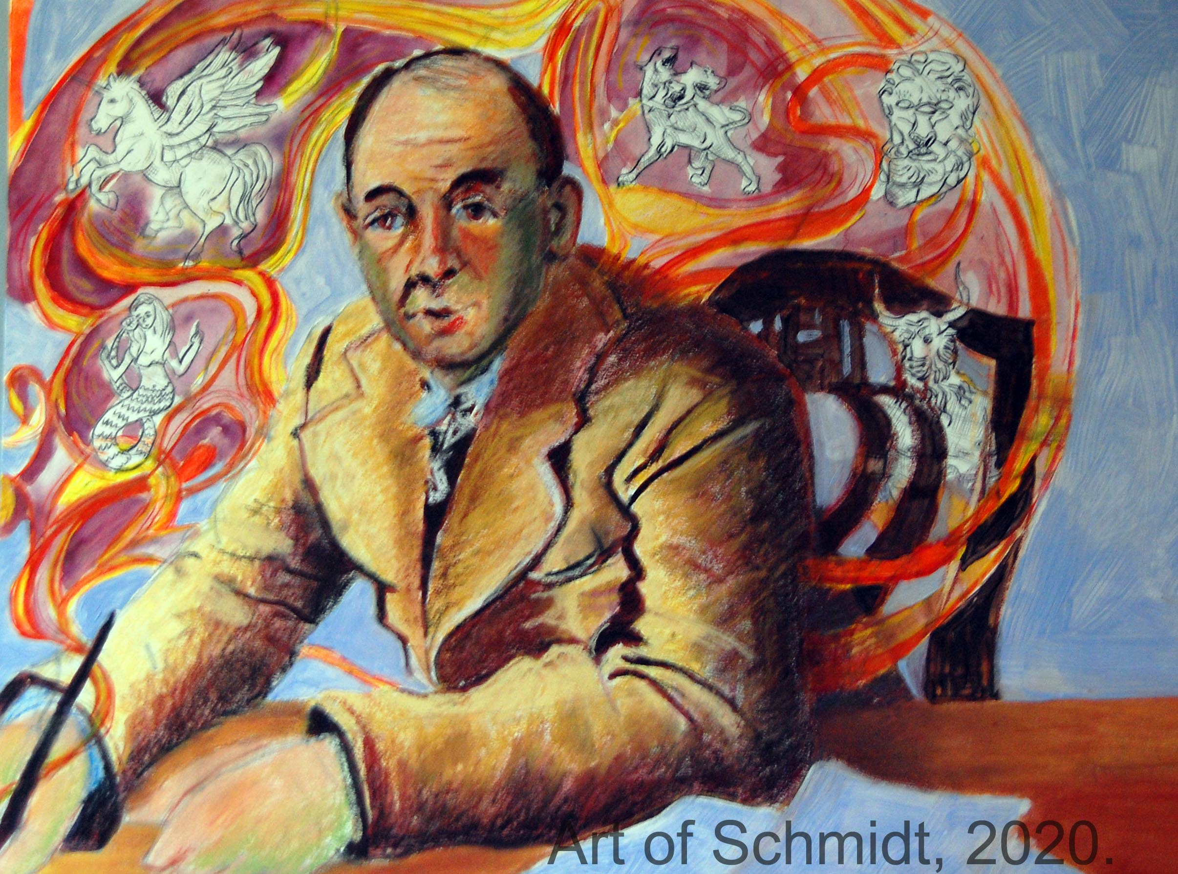CS Lewis with watermark, flat