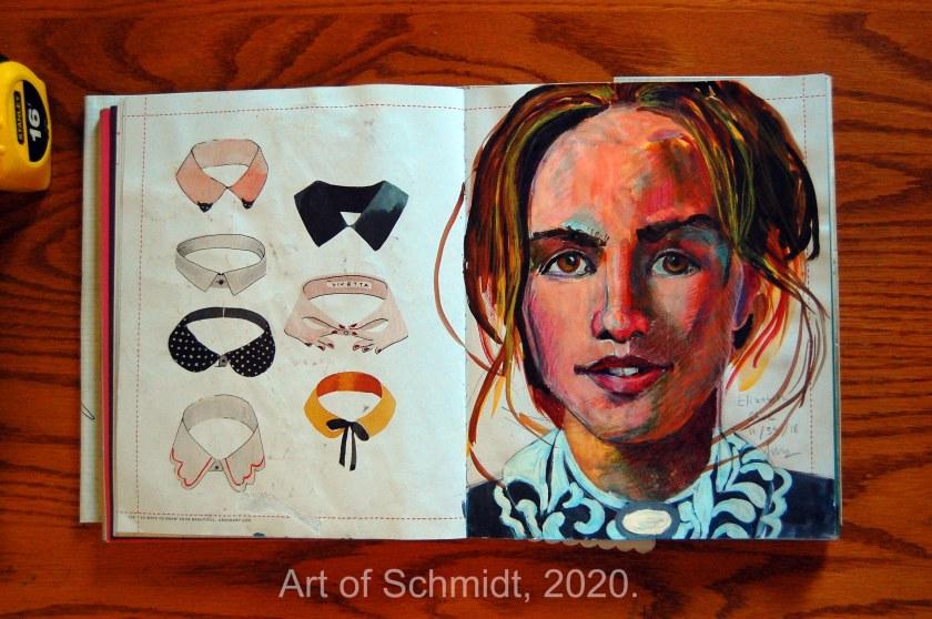 Elizabeth Shue sketch, flat