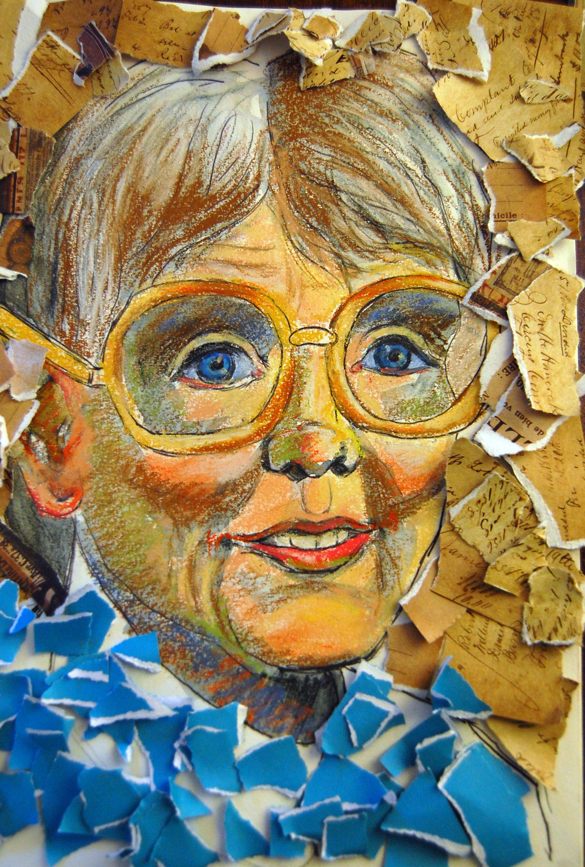 mixed media portrait collage